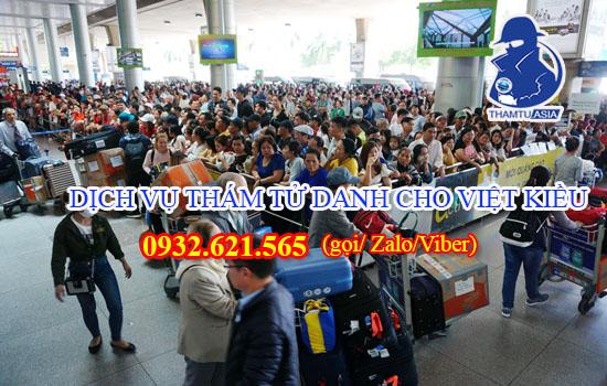 Dịch vụ thám tử ĐIỀU TRA THÔNG TIN dành cho Việt Kiều